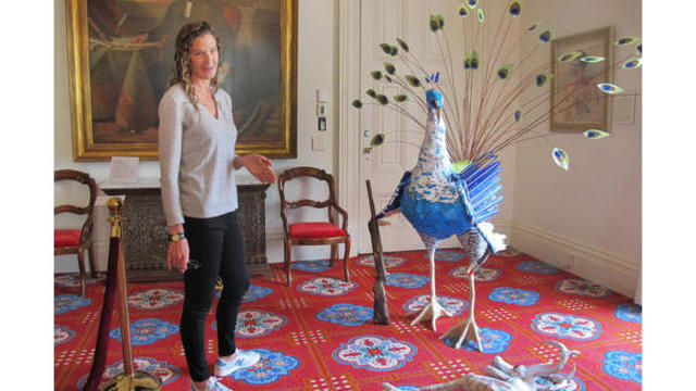 vermont governor s artist wife s humorous work on statehouse display