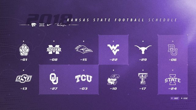 Kansas State 2018 Football Schedule Announced