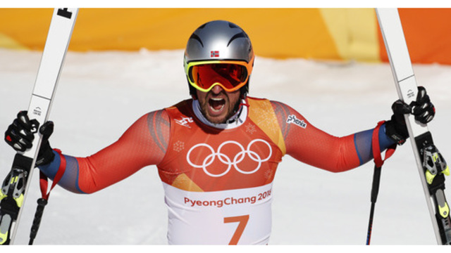 The Latest: Norway's Svindal wins Olympic men's downhill