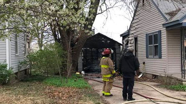 Garage fire in central Topeka reported as arson