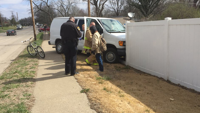 1 person taken to Topeka hospital after vehicle crashes into fence
