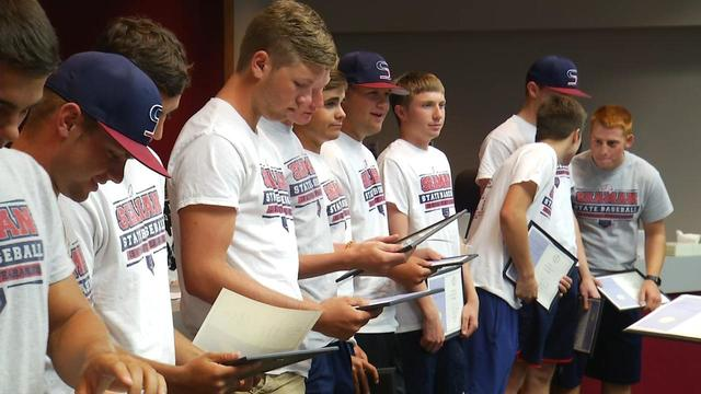 State champion Vikings recognized by Seaman school board