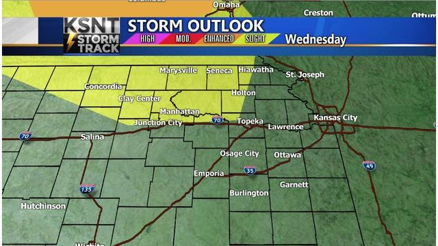 Storm chance higher today and tonight
