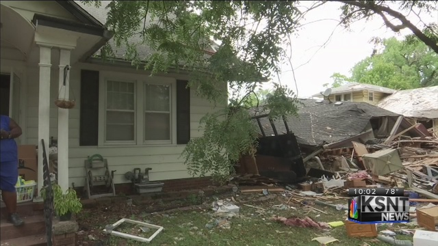Exploding Topeka home causes damage to neighboring houses