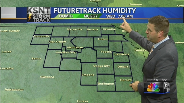 Low humidity air carries over into the start of August