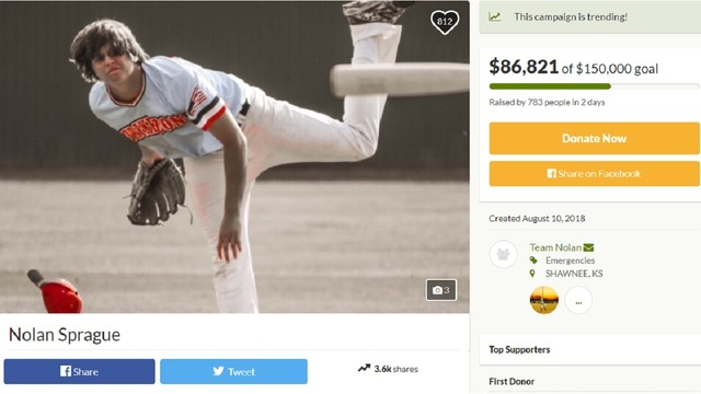 Shawnee teen baseball star paralyzed after diving accident