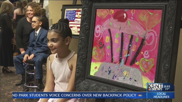 Kids auction off artwork at 'Works of Heart' gala