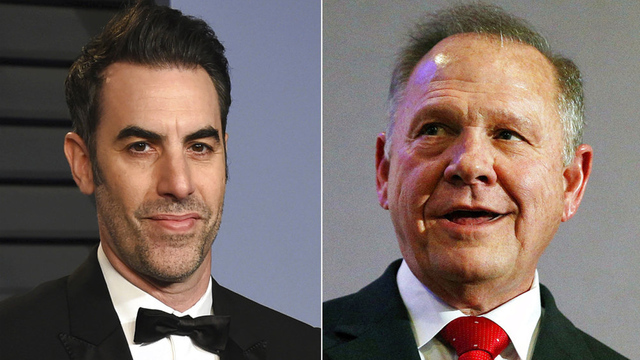 Roy Moore sues Sacha Baron Cohen over 'defamatory' TV prank