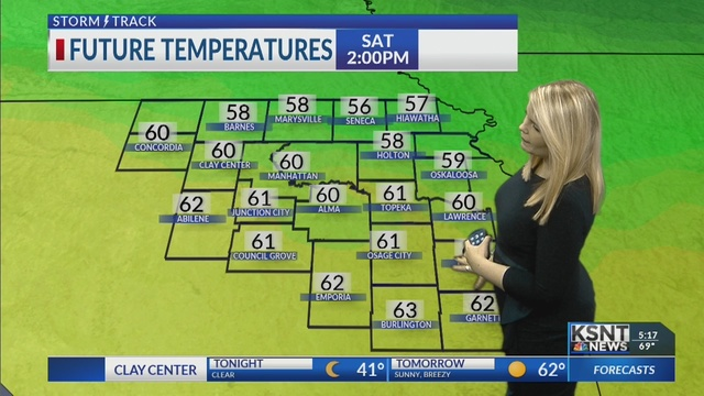 Cooler tonight, mild and sunny this weekend