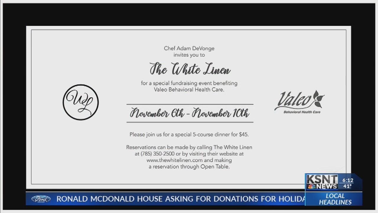 The White Linen Prepares For Temporary Fundraising Menu