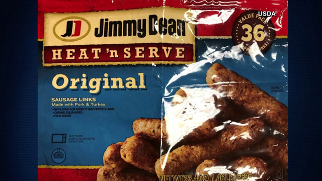 Jimmy Dean frozen sausages recalled due to possible metal contamination