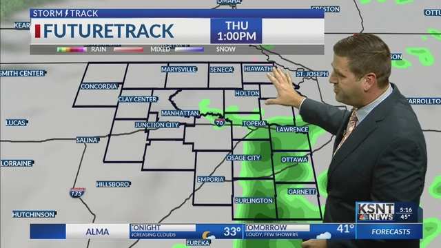Colder winds blow through on Thursday, a few light showers possible