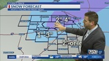 Rain starts up tomorrow afternoon, changing to snow later