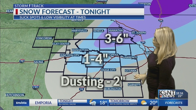 Blustery snow tonight, much colder for Saturday