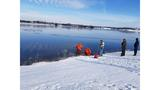 Firefighters rescue dog from a frozen Lake Shawnee Sunday afternoon