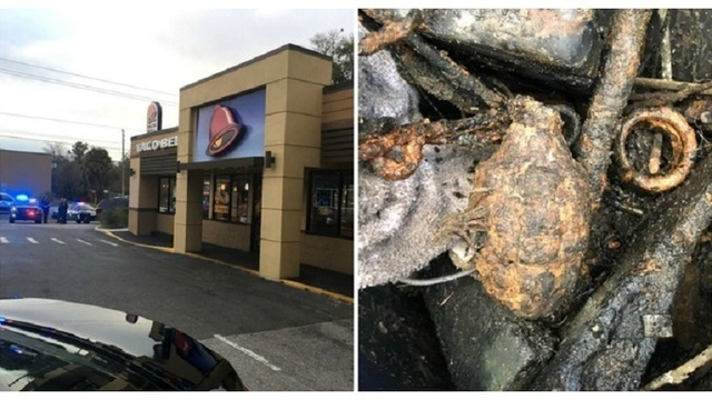 Florida man finds World War II grenade while fishing, brings it to Taco Bell