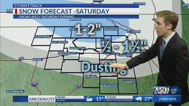 Extra snow showers moving through Saturday evening