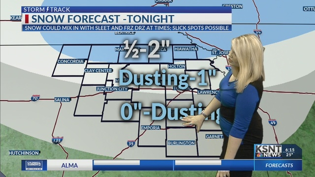 Wintry mix tonight; more snow for early next week