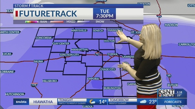 Still chilly for Monday; accumulating snow moves in on Tuesday