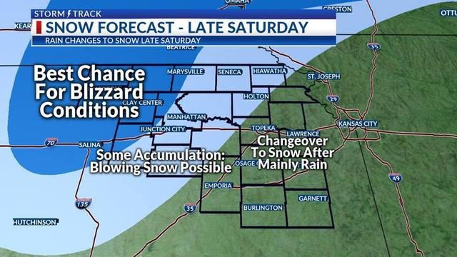 Lots of rain Saturday, western counties could also see heavy snow