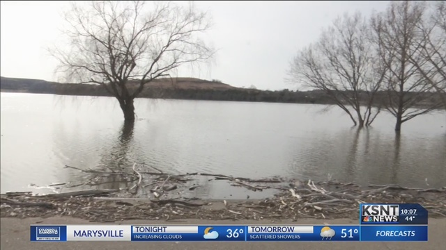 Army Corps of Engineers monitoring rising lake levels at Tuttle Creek