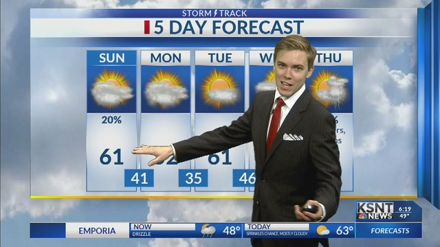 Sunday stays cloudy with a chance for evening sprinkles