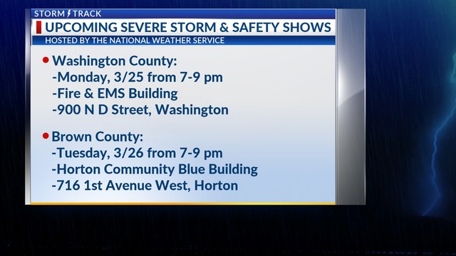 Upcoming NWS Severe Storm and Information Shows