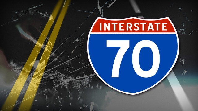 Teen driver crashes into median on I-70