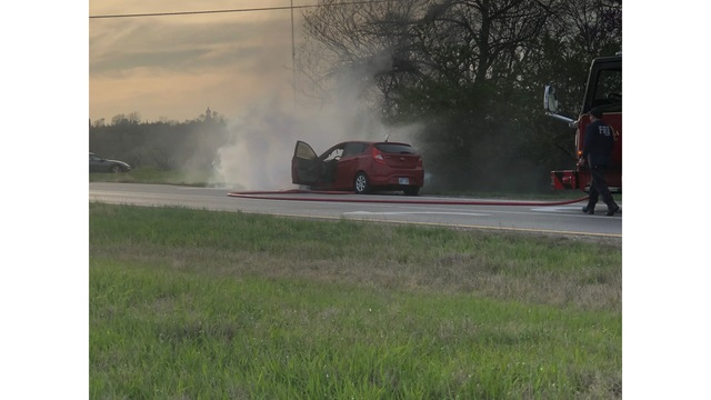 Car catches fire on I-70