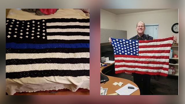 Kansas woman crochets for fallen law enforcement officers' loved ones