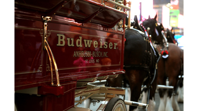 Budweiser Clydesdales to deliver beer to the Capitol