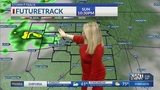 Slight storm chance tonight&#x3b; cooler starting on Monday