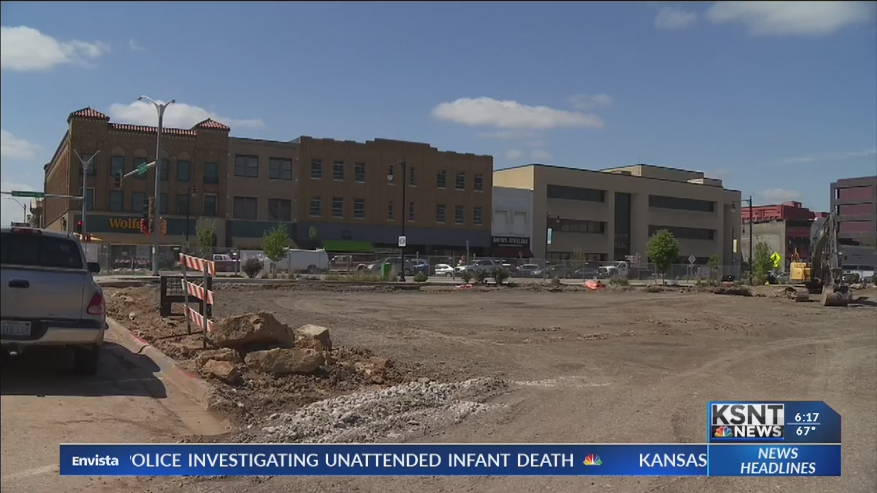 Construction for downtown Topeka plaza moving along