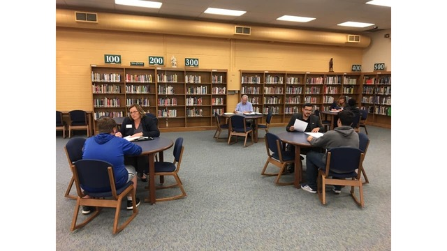 Highland Park students practice their job application skills in mock interviews