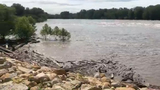 UPDATE:  Woman survives after jumping into flooding Kansas River