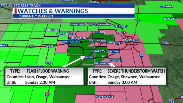 Flash flooding a concern tonight; more severe weather chances ahead