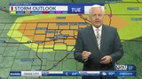 The risk for strong to severe storms increases by sunset